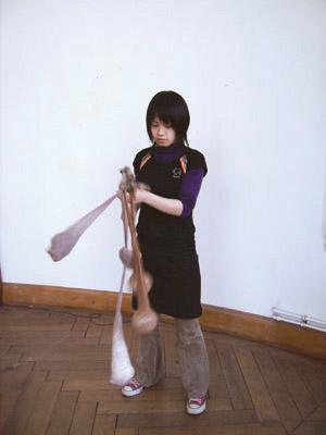 Yuka Origasa - Kommunikationsmodell - 2006 - Aktion im Atelier