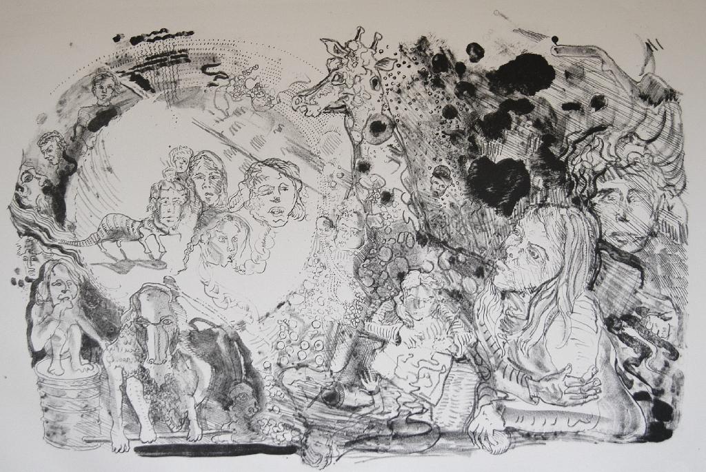 Sebastian Hennig - o.T. - 2012 - Lithografie auf Bütten