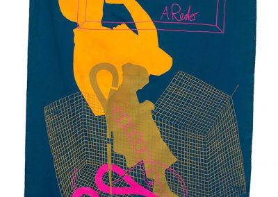 Anne Reiter - o.T. (Serie: Siebdruckserie IV) - 2019 - Siebdruck auf Textil - 250 x 140 cm