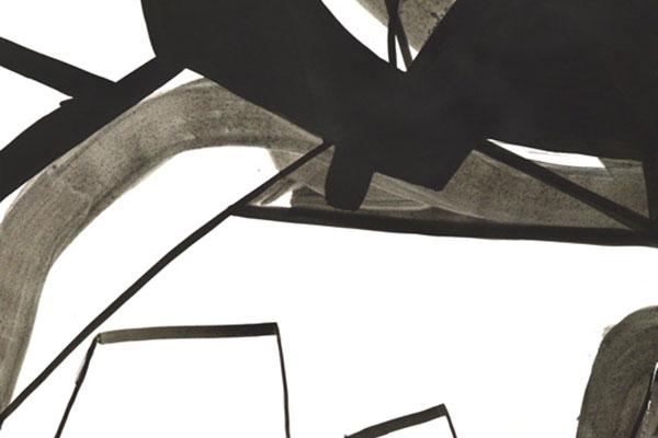 Jakob Flohe - Mickey - 2014 - Tusche auf Papier - 61 x 46 cm