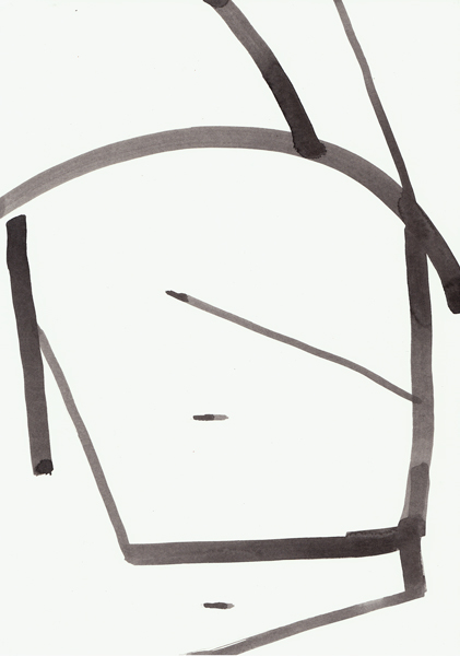 Jakob Flohe - 1 2 3 - 2012 - Tusche auf Papier - 29,7 x 21 cm