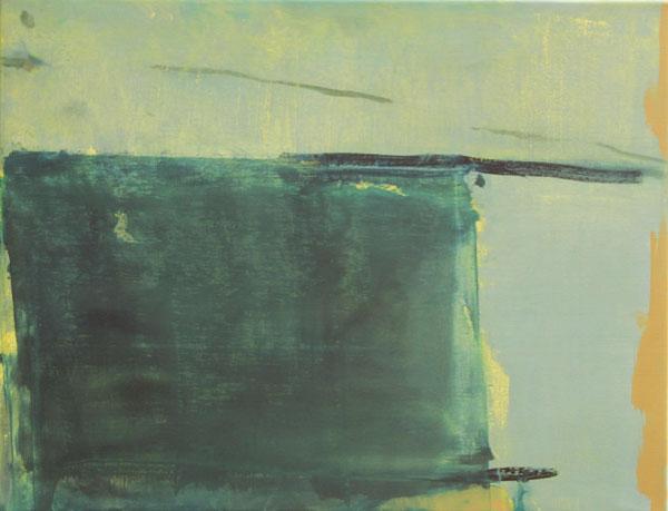 Anne Dubber - Cill Rialaigh - 2014 - Ölfarbe, Eitempera auf Leinwand - 50 x 65 cm