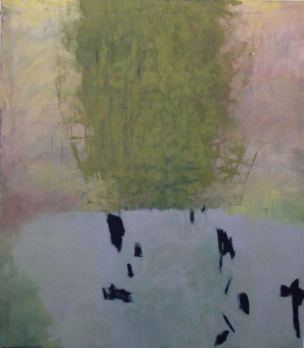 Anne Dubber - Leaves - 2015 - Ölfarbe, Eitempera auf Leinwand - 160 x 140 cm