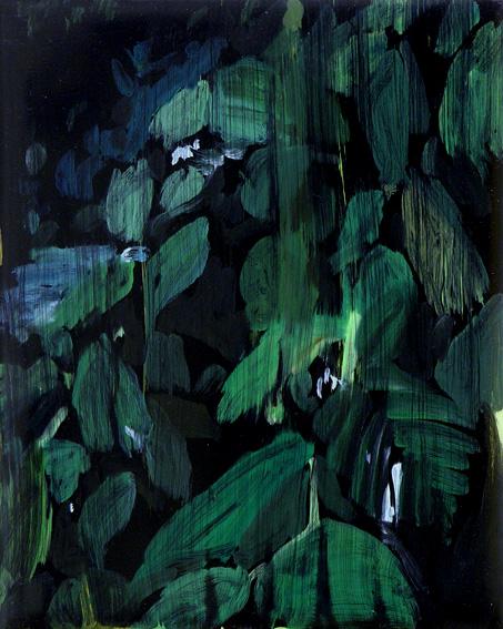 Stefan Kübler - Blattwerk - 2014 - Acryl auf Leinwand - 25 x 20 cm