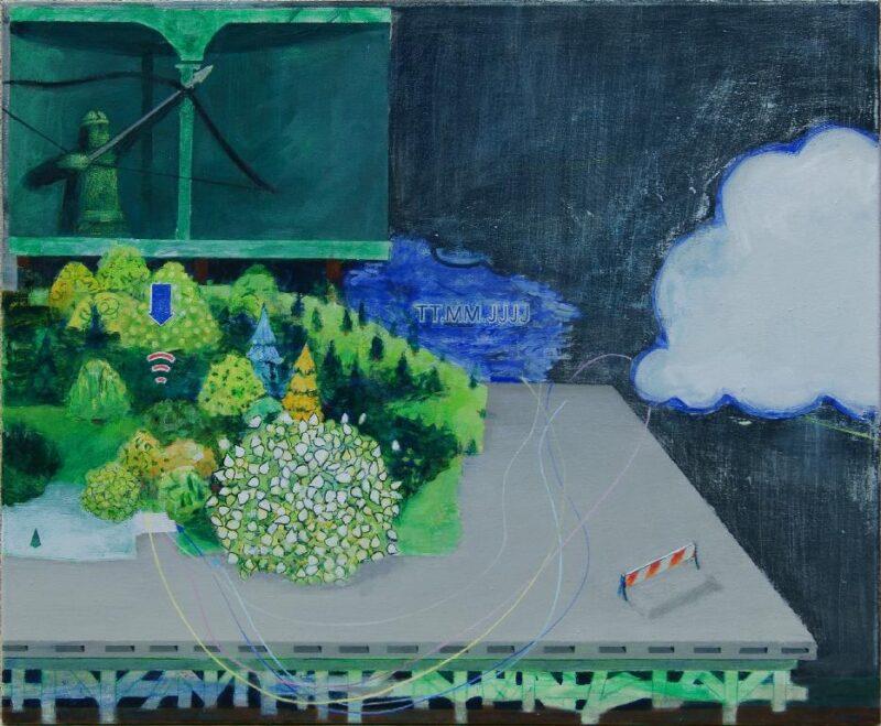 Robert Helms - Rekonstruktion - 2014 - Acryl und Pigment auf Leinwand - 65 x 80 cm