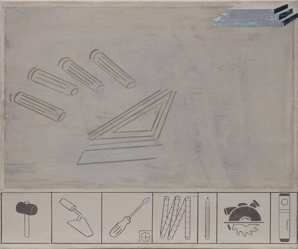 Robert Helms - Montageanleitung - 2014 - Acryl und Pigment auf Leinwand - 60 x 70 cm