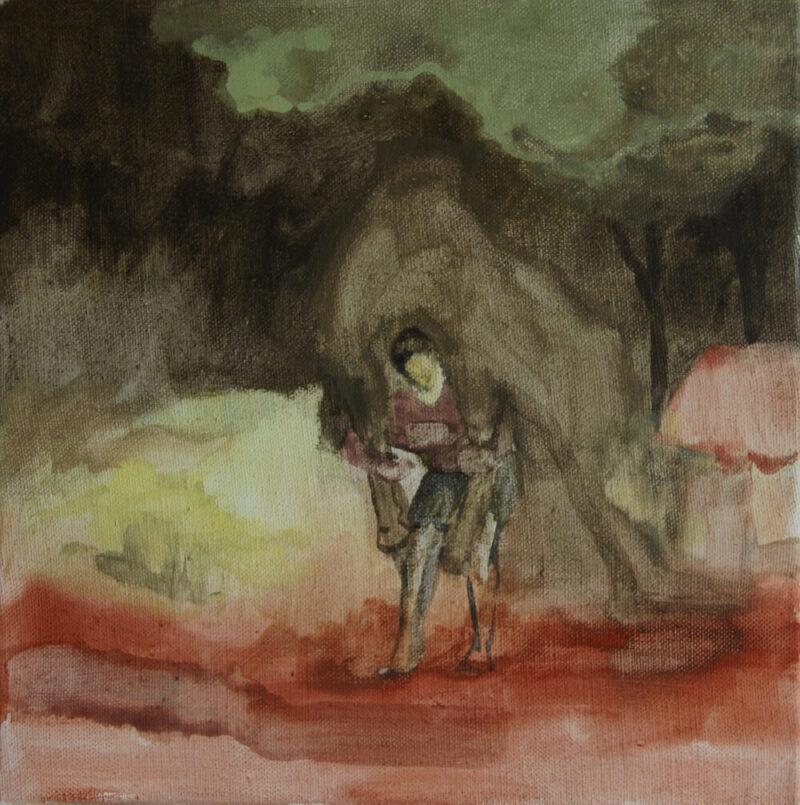 Anne-Cathrin Brenner - 0PS - 2019 - Gummiarabicum auf Leinwand - 30 x 30 cm