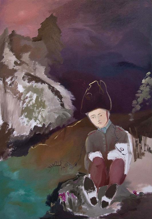 Anne-Cathrin Brenner - Kleiner Soldat - 2017 - Öl auf Leinwand - 170 x 118 cm