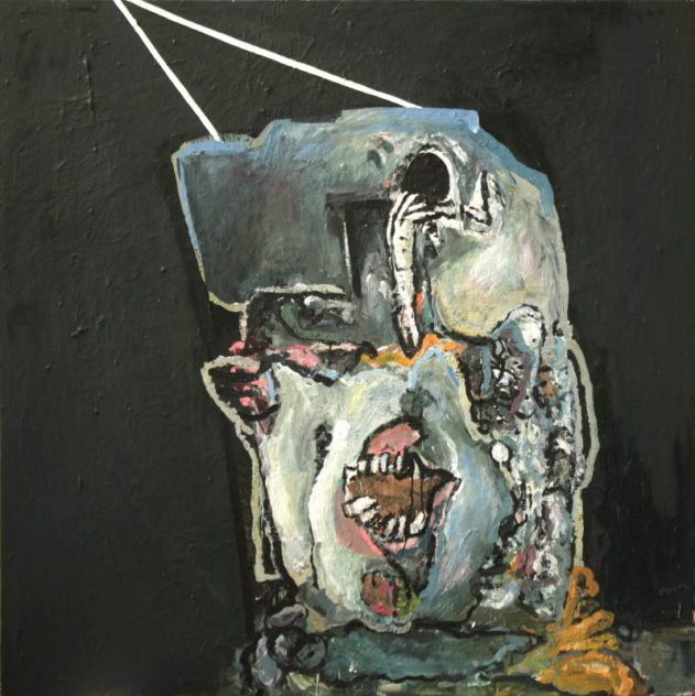Anja Pletowski - Doppelkopf - 2011 - Öl auf Leinwand - 150 x 150 cm