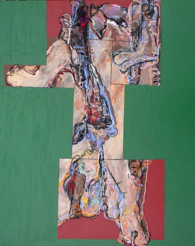 Anja Pletowski - Fragment - 2011 - Pastell und Acryl auf Karton - 51,5 x 41 cm