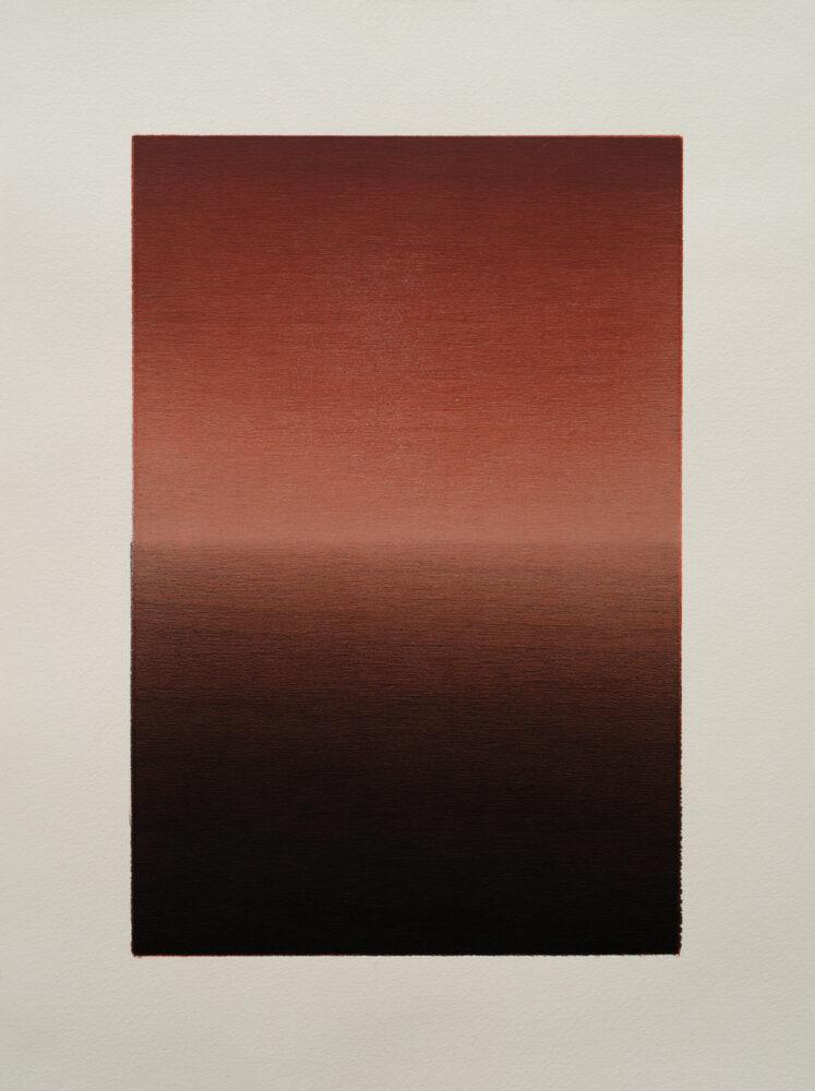 Jan Kromke - HdL 20.114 - 2018 - Holzdruck auf Kupferdruckkarton (Unikat) - 40 x 30 cm