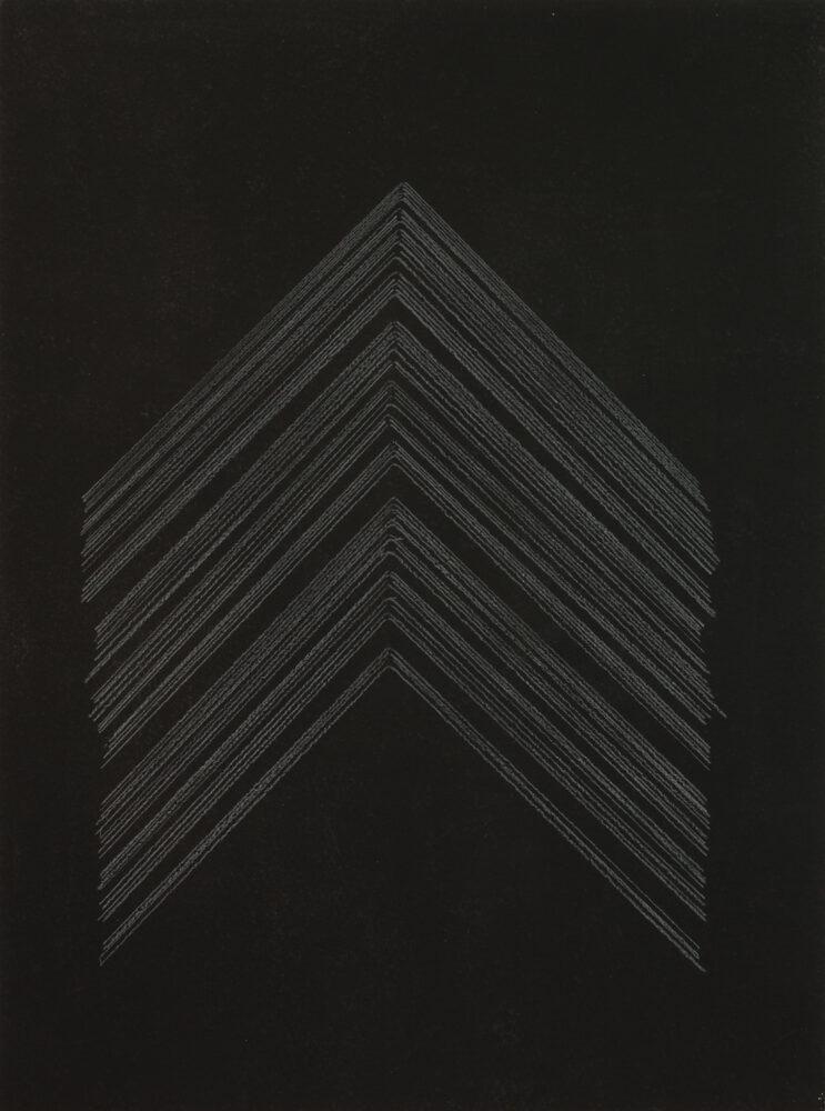 Alexandra Schewski - Lineatur Blatt 160219 - 2019 - Buntstift auf grundiertem Papier - 32 x 24 cm