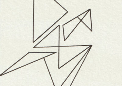 Omani Frei - Senbazuru - 433 - 2019 - Tinte auf Papier - 75 x 75 cm