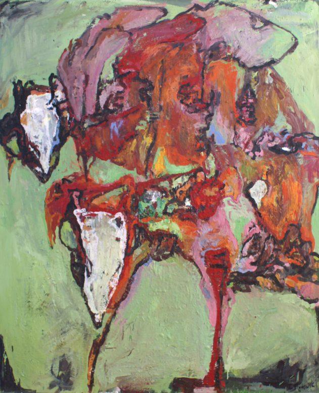 Anja Pletowski - Tiere - 2012 - Öl auf Leinwand - 185 x 150 cm