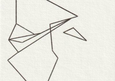 Omani Frei - Senbazuru - 460 - 2019 - Tinte auf Papier - 75 x 75 cm