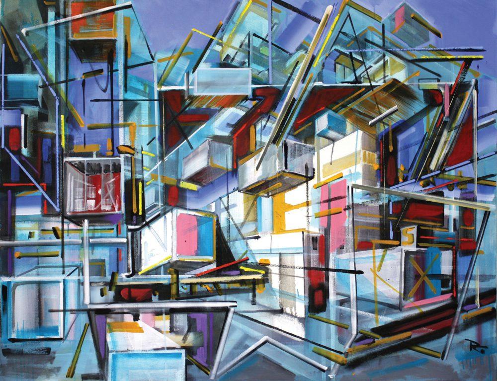 Philipp Gloger - Verladehafen - 2017 - Öl auf Leinwand - 120 x 150 cm