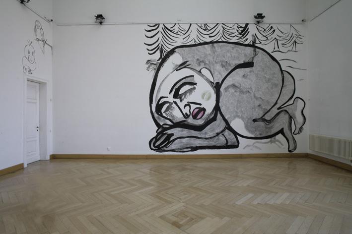 Sylvia Pásztor - IN LOVE - 2011 - Zeichnung - 450 x 500 cm