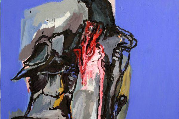 Anja Pletowski - Vogel - 2009 - Öl auf Leinwand - 130 x 130 cm