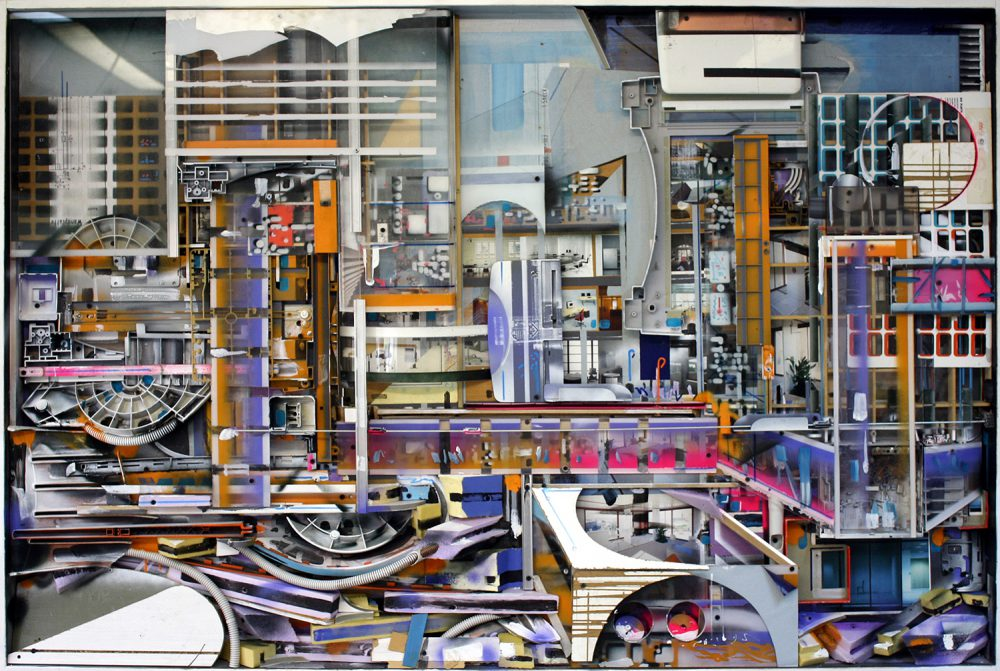 Philipp Gloger - City Centre - 2017 - Kunststoff, Holz, Metall, Lack - 120 x 170 x 10 cm