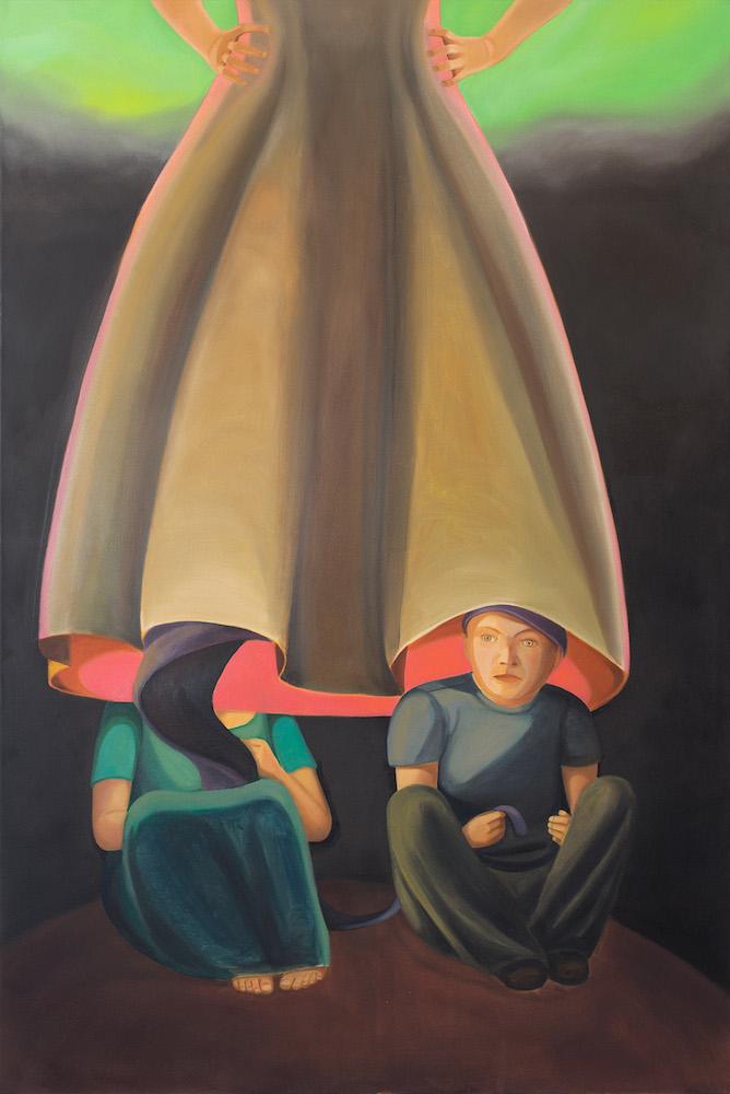 Melanie Kramer - Gehäuse III - 2015 - Öl auf Leinwand - 150 x 100 cm