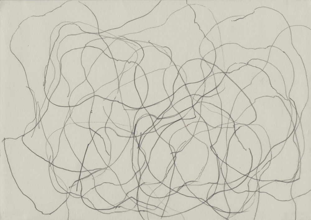 Jana Morgenstern - Steine 14.8.07 XVII - 2007 - Grafit auf Papier - 21 x 29,7 cm