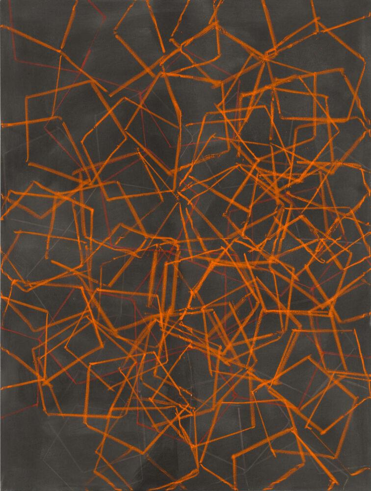 Jana Morgenstern - 14/3 - 2014 - Fettkreide und Tusche auf Leinwand - 180 x 135 cm