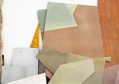 Silke Wobst - Lage Schernstel (Detail) - 2010 - Sperrholzplatten, MDF, Holzleisten, Blech, Folie, Modelliermasse, Plexiglas, Ölfarbe, Leimfarbe - 280 x 600 x 20 cm