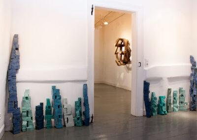 Silke Wobst - Dan-Hotum - 2012 - Holz, Leim, Pigmente, Wachsfarbe