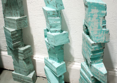 Silke Wobst - Dan-Hotum (Detail) - 2012 - Holz, Leim, Pigmente, Wachsfarbe