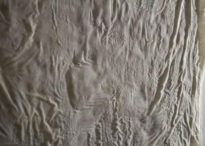 Ayelen Coccoz - Still#2 (Detail) - 2014-2015 - Basrelief aus Bienenwachs, Paraffin, Pigmenten, Fiberglas, Holzrahmen - 120 x 145 x 3 cm