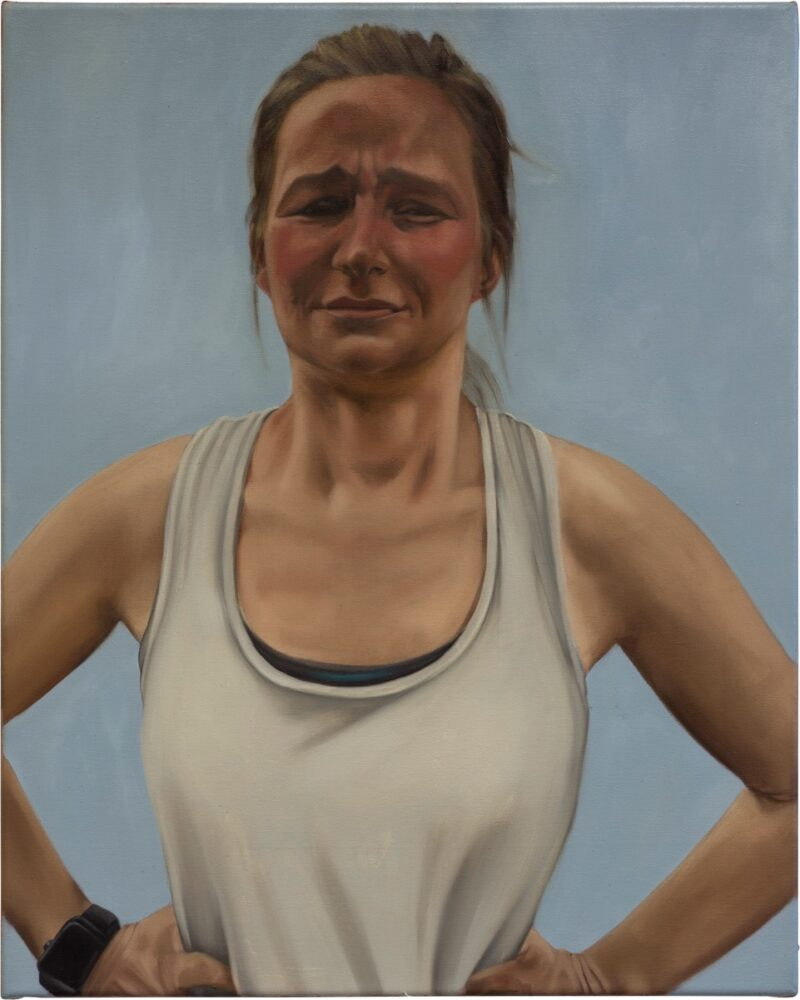 Wiebke Herrmann - The Real Sporting Life - 2018 - Öl auf Leinwand - 55 x 44 cm