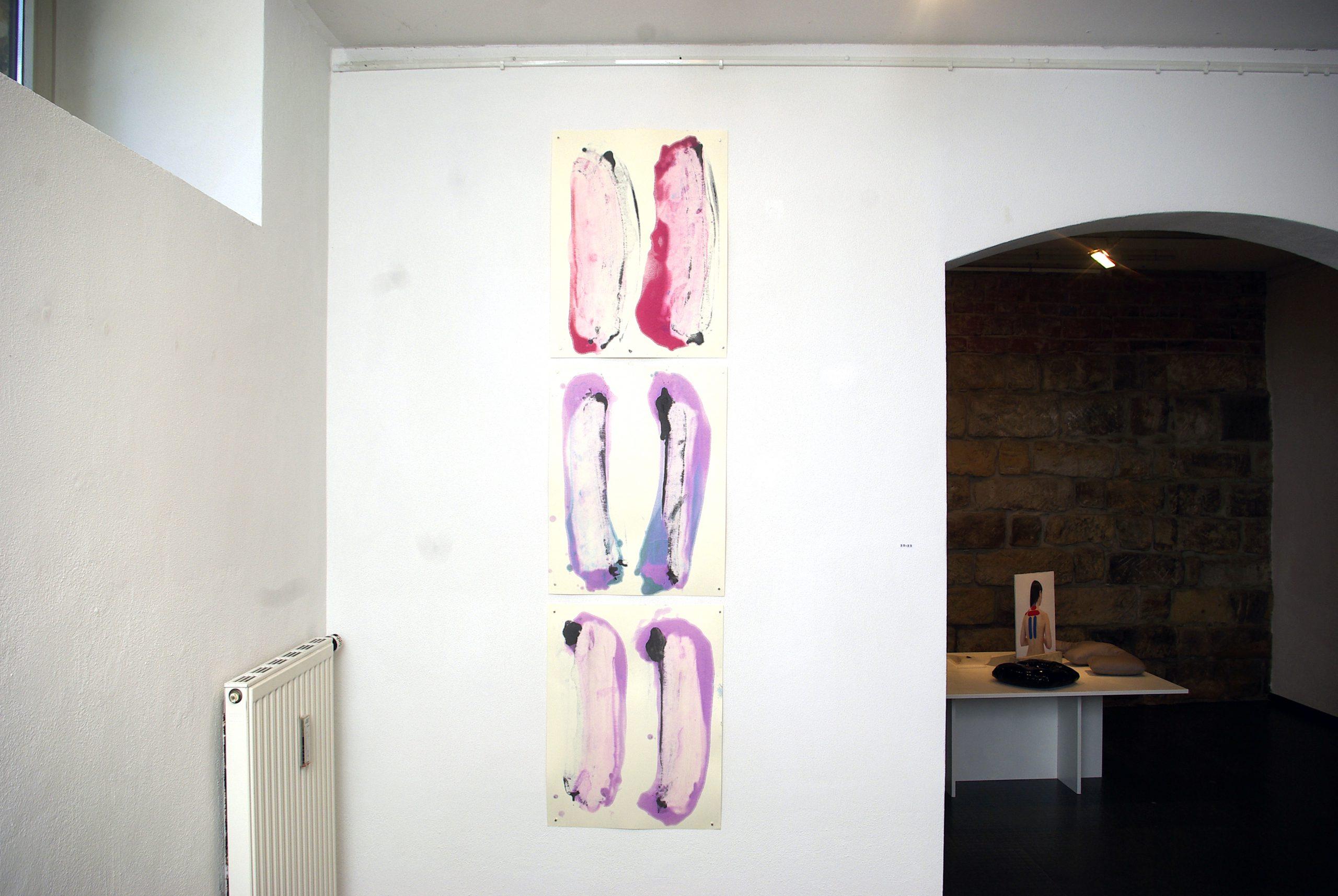 Maria Katharina Morgenstern - o.T. (Ausstellungsansicht) - 2019 - Tusche auf Papier - 65 x 50 cm