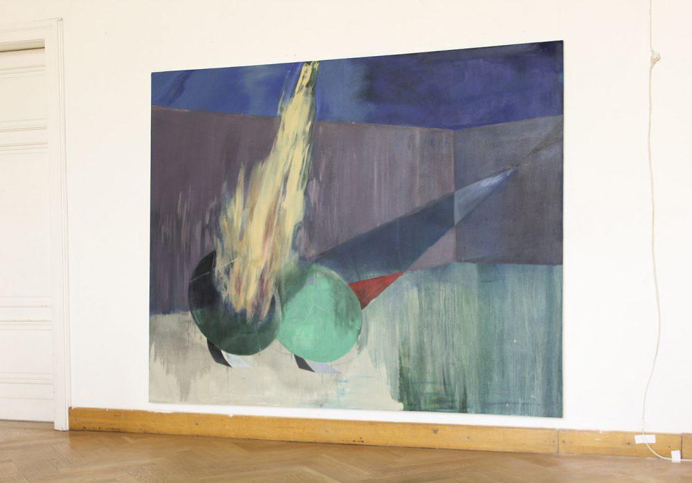 Noemi Durighello - Hotspots (Ausstellungsansicht) - 2019 - Öl auf Leinwand - 270 x 310 cm