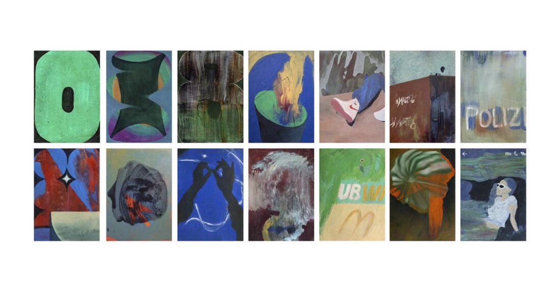 Noemi Durighello - Postcards (Serie) - fortlaufend (begonnen 2018) - Öl auf Papier - je 29 x 21 cm