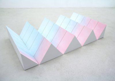 Antje Guske - Oberlicht (Modul 1) - 2019 - Pastell auf Hartfaser - 120 x 200 x 34 cm