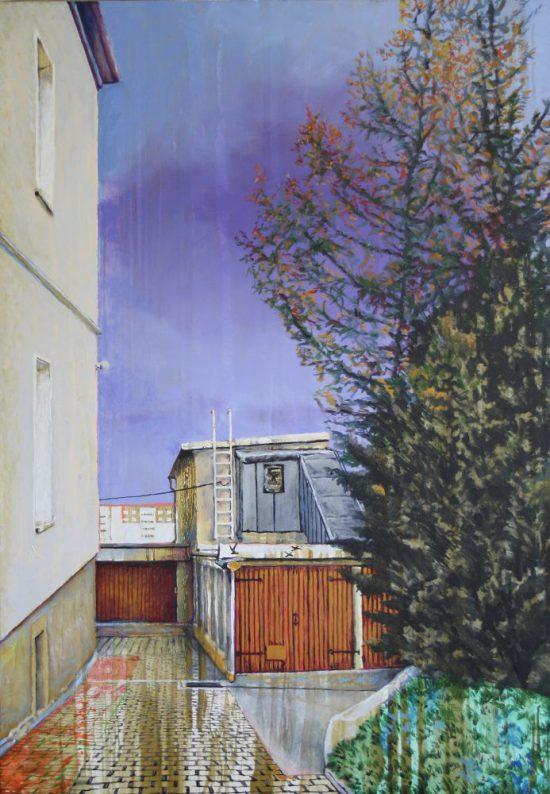 Thorsten Groetschel - Regen - 2019 - Öl auf Leinwand - 100 x 70 cm