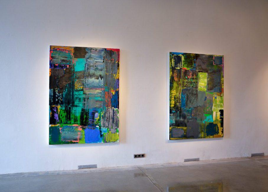 """Felix Lippmann - Ausstellungsansicht """"Himmel, Erde und Dazwischen"""" in der Bueffelfish cfa gallery Dresden - 2018"""