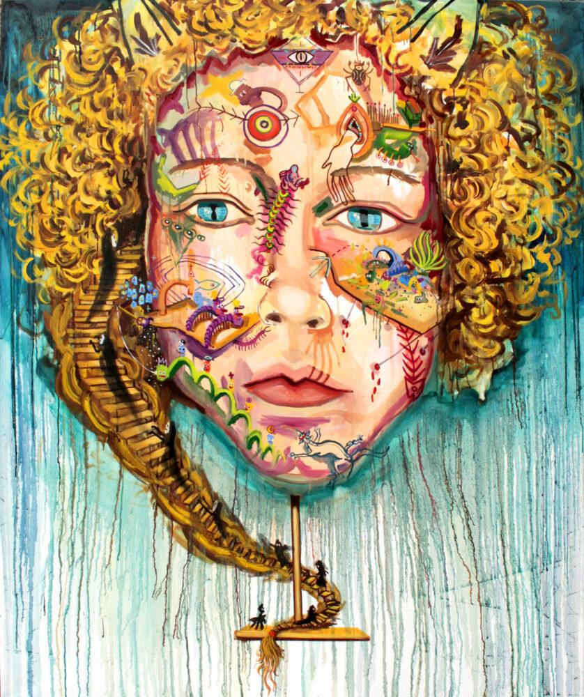 Viktoria Graf - Kidhead - 2018 - Öl auf Leinwand - 140 x 114 cm