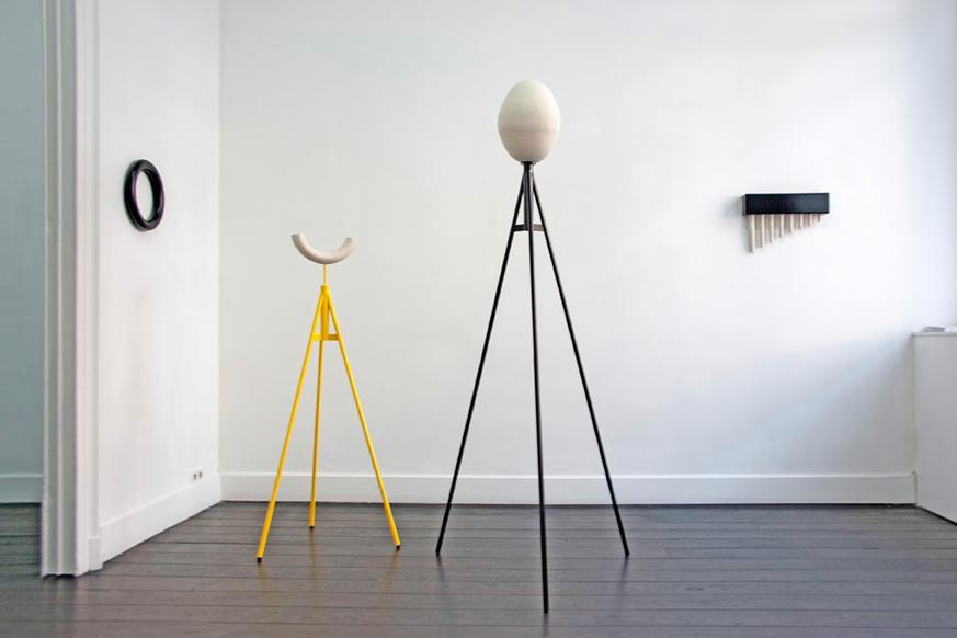 """Ulrike Mundt - Ausstellungsansicht """"Radical Gestures"""" in der gallery Shoobil, Antwerpen, BE, 2019"""