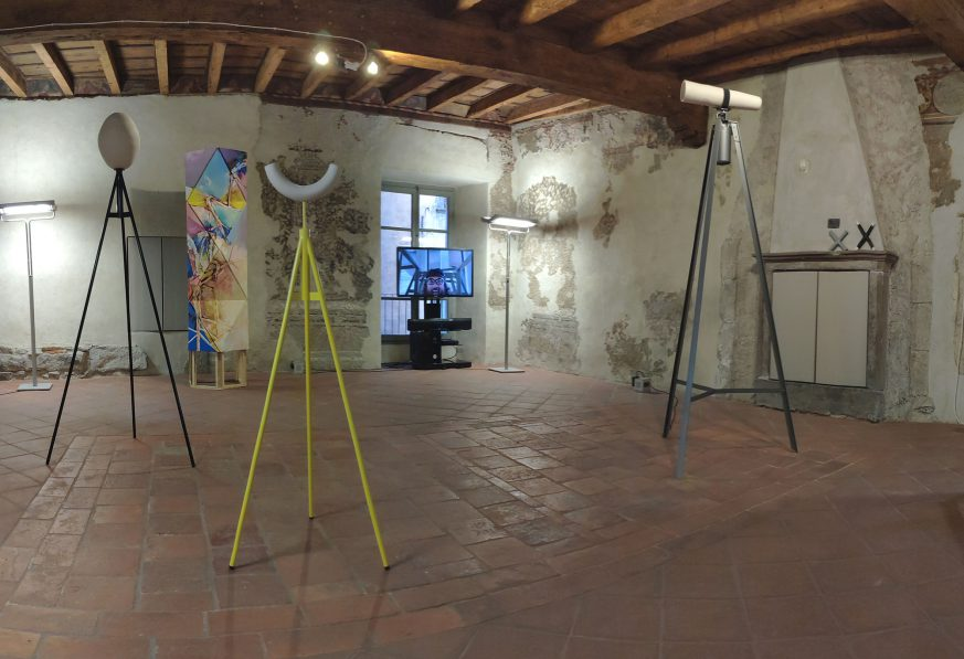 """Ulrike Mundt - Ausstellungsansicht """"In Situ"""" in Casa Degli Artisti, Bienno (BS), IT, 2020"""
