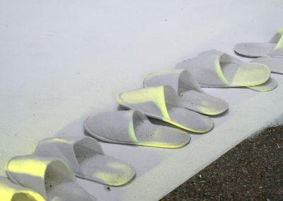 """Nicolai Leicher - Ausstellungsansicht """"Blow Up"""" im Fotostudio Paper Thin, Athen - 2020"""