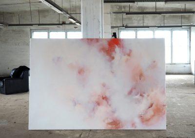 Marie Athenstaedt - Substanz 12 (Atelieransicht) - 2018 - Öl auf Leinwand - 155 x 230 cm