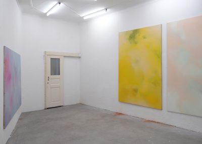 Marie Athenstaedt - Substanz 2, Substanz 3 & Substanz 5 - 2018 - Öl auf Leinwand - je 155 x 230 cm - Ausstellungsansicht, Leipzig, 2019