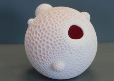 Dana Berg - Molluske XI - 2020 - rosa und weisses Porzellan - ∅ 15 cm