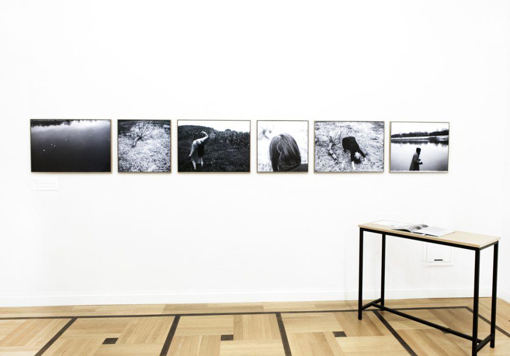 """Duo Hille/Essipowitsch - Ausstellungsansicht """"BLINDFOLD TRUST"""" anlässlich des Hellerau Portrait Awards, 2017"""