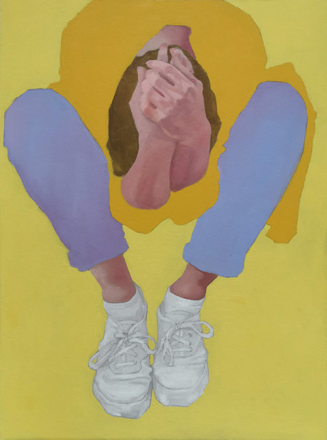Helena Zubler - Couchcrumbling - 2019 - Öl auf Karton - 70 x 50 cm
