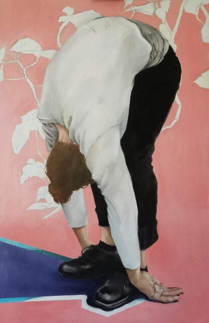 Helena Zubler - Harlekin - 2020 - Öl auf Leinwand - 130 x 70 cm