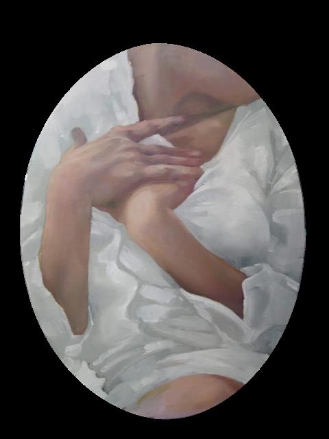 Helena Zubler - Inside Out - 2019 - Öl auf ovale Malpappe - 40 x 30 cm