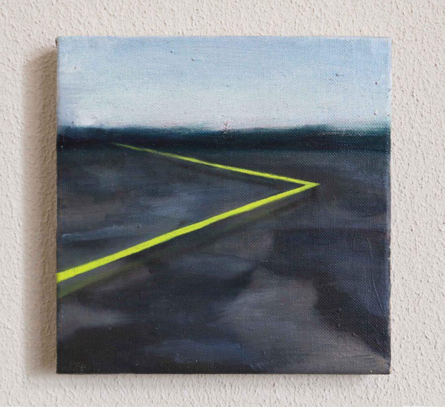 Johanna Failer - Altas Cumbres - 2019 - Öl auf Leinwand - 25 x 25 cm