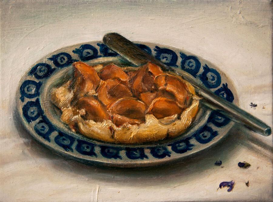 Johanna Failer - Aprikosenkuchen - 2017 - Öl auf Leinwand - 18 x 24 cm